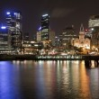 Sydney CBD at night - Stock Photo