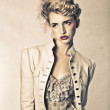 Beautiful blond fashion model — Stock Photo