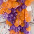 Orange and purple balloons — Stock Photo