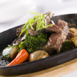 Stock Photo: Honey & Pepper Sizzling Beef and vegetables