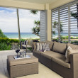 Stock Photo: Beautiful waterfront suite with oceviews