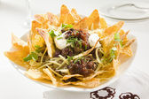 Tasty Crunchy Nachos — Stock Photo