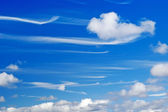 Mare's tails wispy cirrus clouds — Stock Photo