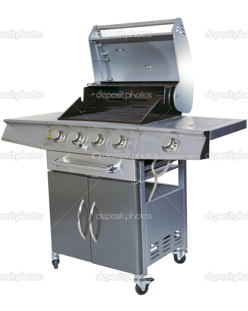 Cut-out barbecue on white background — Stock Photo #5792560