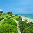 Golf Course by the Sea — Stock Photo #5833894