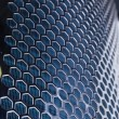 Blue Metal Mesh - Stock Photo