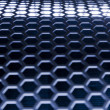 Royalty-Free Stock Photo: Blue Metal Mesh