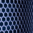 Blue Metal Mesh — Stock Photo
