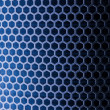 Stock Photo: Blue Metal Mesh