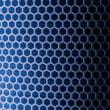 Blue Metal Mesh — Stock Photo
