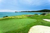 Golf Course by the Sea — Foto de Stock