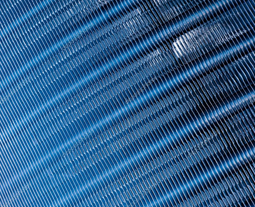 Dark blue Metal Mesh Texure closeup shot — Stock Photo #5834711
