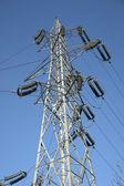 Jeden elektrický pól — Stock fotografie