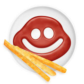 Ketchup smile — Stock Photo