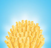Bunch of fries — Stock Photo