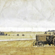 Vintage Picture Design - Old Tractor — Stock Photo