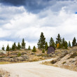 Royalty-Free Stock Photo: 4 x 4 Road in Colorado at stormy weather