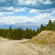 4 x 4 Road in Colorado at stormy weather — Stock Photo #5782310