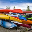 Stock Photo: Harbor with Kayaks in small Town in Colorado, USA