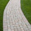 Brick Color Walkway — Stock Photo