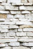White BrickWall Texture and Background — Foto Stock