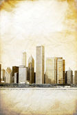 Graphic Design: Vintage Picture Of Downtown Chicago — Stock Photo
