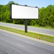 Billboard on american toll way — Stock Photo