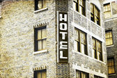 Vintage Picture Design - Hotel — Stock Photo