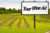 Billboard in Vineyard — Stock Photo