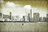 Graphic Design: Retro Picture Of Downtown Chicago — Stock Photo