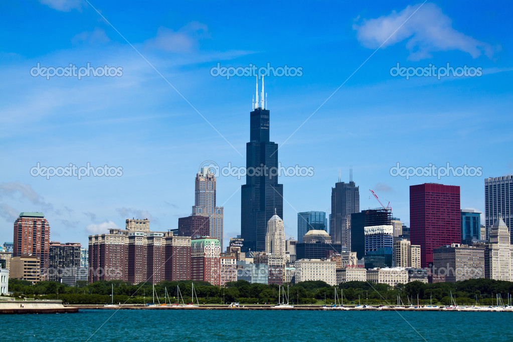 Apartament Buildings at city downtown — Stock Photo #6055902