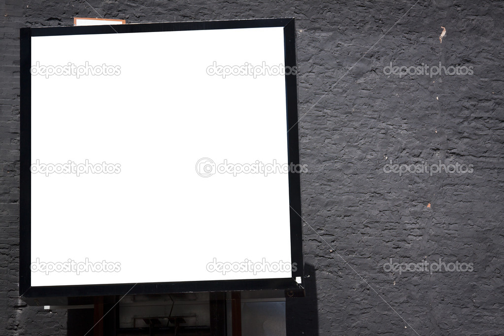 Blank Billboard on building in city downtown  Stock Photo #6055987