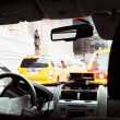 Old Picture Effect - Inside NYC Taxi — Stock Photo