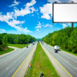 Billboard with Stormy Sky on american toll way — Stock Photo #6105846