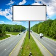Billboard with Stormy Sky on american toll way — Stock Photo #6105848