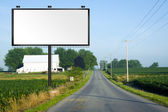 Illustration: Big Tall Billboard on road — Stock Photo