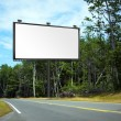 Stock Photo: Billboard on Country Road