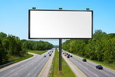 Billboard on american tollway — Stock Photo