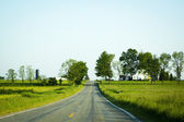 American Country Road at Sunset — Stock Photo