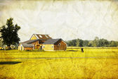 Old Picture Design - American Country — Stock Photo