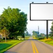 Stock Photo: Billboard on AmericCountry Road