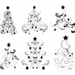 Set Christmas Trees — Stockvektor #5796733