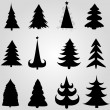 Royalty-Free Stock Vector Image: Set of christmas trees