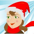 Stock Vector: Winter beauty girl
