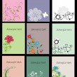 Royalty-Free Stock Vector Image: Set of floral business cards, vector illustration