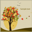 Stock Vector: Decorative autumn background