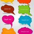 Colorful hand drawn speech and thought bubbles — Stock Vector