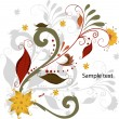 Stock Vector: Vector elegant autumn leaves illustration