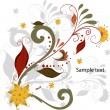 Vector elegant autumn leaves illustration — Stock Vector