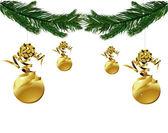 Рождественская елка ветви Векторный фон — Cтоковый вектор